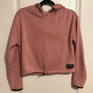 Soft pink fuzzy hoodie